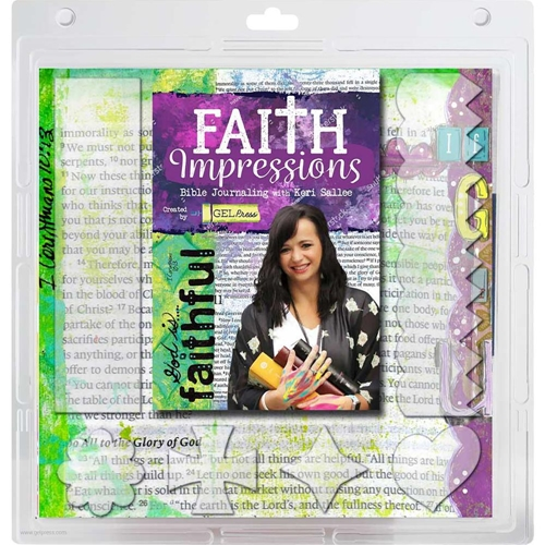 Gel Press FAITH IMPRESSIONS BIBLE JOURNALING Reusable Gel Printing Plate Kit 10803f01 Preview Image