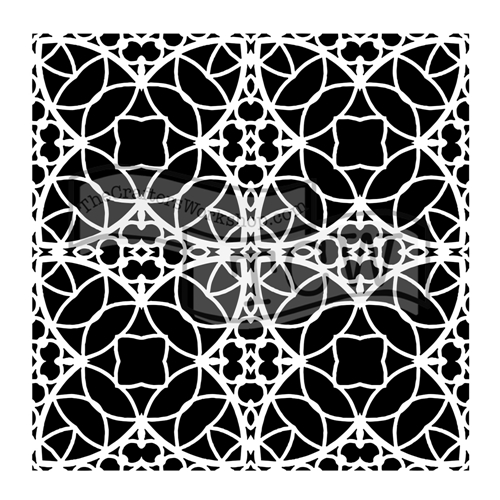 The Crafter's Workshop SMALL SPANISH TILE 6x6 Template tcw806s  Preview Image