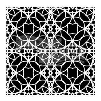 The Crafter's Workshop SMALL SPANISH TILE 6x6 Template tcw806s