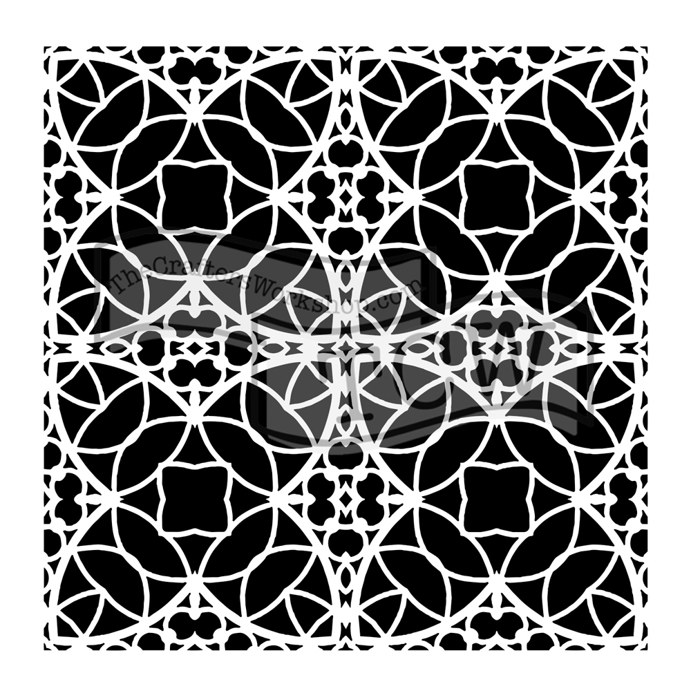 The Crafter's Workshop SMALL SPANISH TILE 6x6 Template tcw806s  zoom image