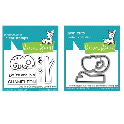 Lawn Fawn SET ONE IN A CHAMELEON Clear Stamps and Dies MLFOIC Preview Image