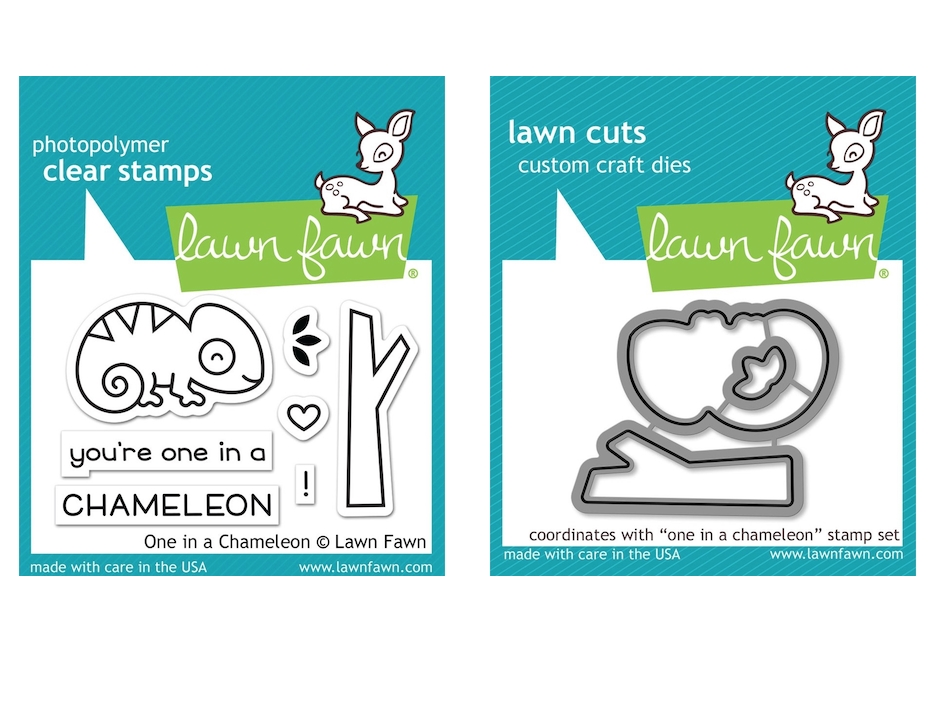 Lawn Fawn SET ONE IN A CHAMELEON Clear Stamps and Dies MLFOIC zoom image