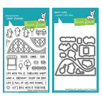 Lawn Fawn SET COASTER CRITTERS Clear Stamps and Dies MLFCOC