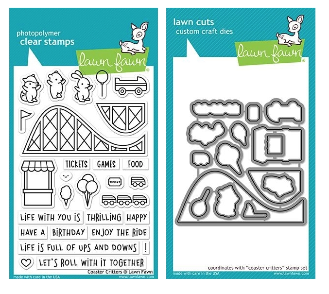 Lawn Fawn SET COASTER CRITTERS Clear Stamps and Dies MLFCOC zoom image