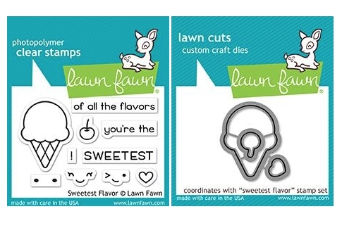 Lawn Fawn SET SWEETEST FLAVORS Clear Stamps and Dies MLFSF zoom image