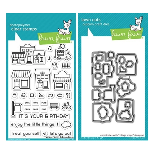 Lawn Fawn SET VILLAGE SHOPS Clear Stamps and Dies MLFVS Preview Image