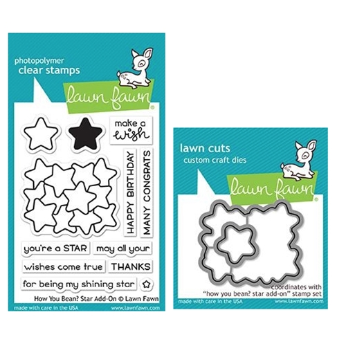 Lawn Fawn SET HOW YOU BEAN STARS Clear Stamps and Dies MLFHYS Preview Image