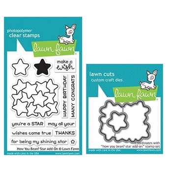 Lawn Fawn SET HOW YOU BEAN STARS Clear Stamps and Dies MLFHYS