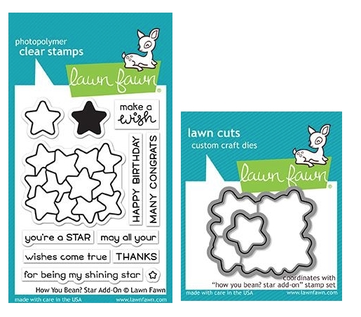 Lawn Fawn SET HOW YOU BEAN STARS Clear Stamps and Dies MLFHYS zoom image
