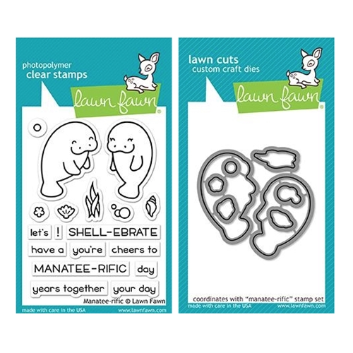 Lawn Fawn SET MANATEE-RIFFIC Clear Stamps and Dies MLFMT Preview Image