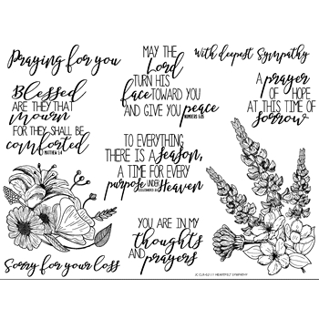 Joy Clair HEARTFELT SYMPATHY Clear Stamp Set clr02177