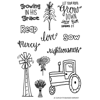Joy Clair BLESSED HARVEST Clear Stamp Set clr02175
