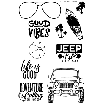 Joy Clair GOOD VIBES Clear Stamp Set clr02183