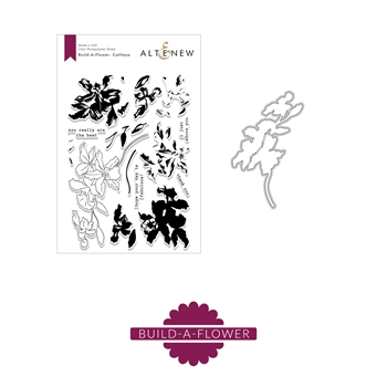 Altenew BUILD A FLOWER CATTLEYA Clear Stamp and Die Set ALT24611