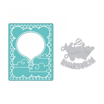 Sizzix HOT AIR BALLOON Impresslits Cut and Emboss Folder 662830