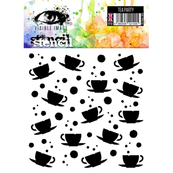 Visible Image TEA PARTY Stencil VIS-TPS-03