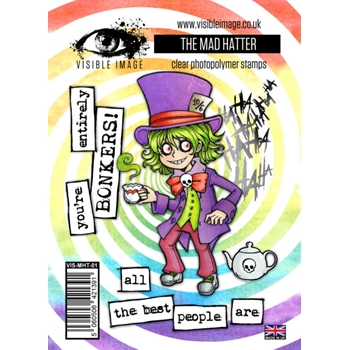 Visible Image THE MAD HATTER Clear Stamps VIS-MHT-01