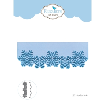 Elizabeth Craft Designs SNOWFLAKE BORDER Craft Dies 1572