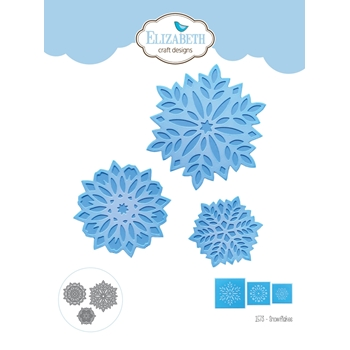 Elizabeth Craft Designs SNOWFLAKES Craft Dies 1573