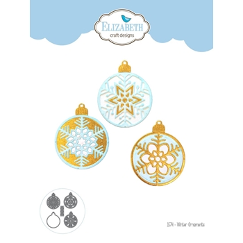 Elizabeth Craft Designs WINTER ORNAMENTS Craft Dies 1574