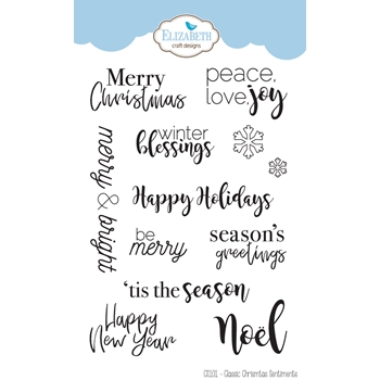 Elizabeth Craft Designs Clear Stamps CLASSIC CHRISTMAS SENTIMENTS cs101