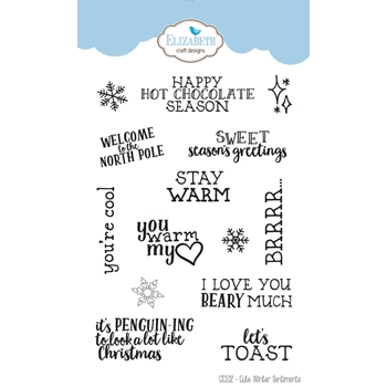 Elizabeth Craft Designs Clear Stamps CUTE WINTER SENTIMENTS cs102