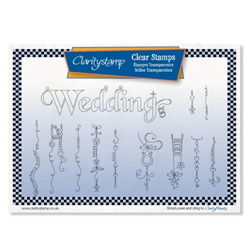Claritystamp LINDA'S WEDDING DANGLES Clear Stamps stawo10623a5