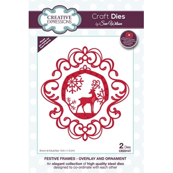 Creative Expressions OVERLAY AND ORNAMENT Sue Wilson Festive Frame Collection Die Set ced3147