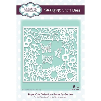 Creative Expressions BUTTERFLY GARDEN Paper Cuts Collection Dies cedpc1034