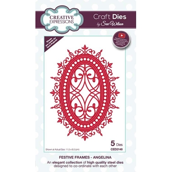 Creative Expressions ANGELINA Sue Wilson Festive Frames Collection Die Set ced3148