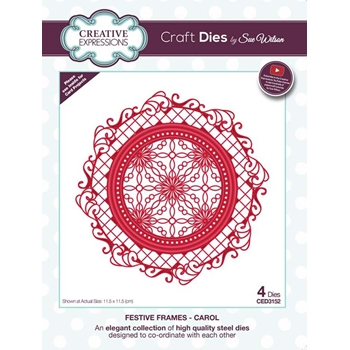Creative Expressions CAROL Sue Wilson Festive Frames Collection Die Set ced3152