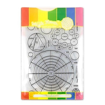 Waffle Flower COLOR WHEELS COMBO Clear Stamps and Die Combo WFC191