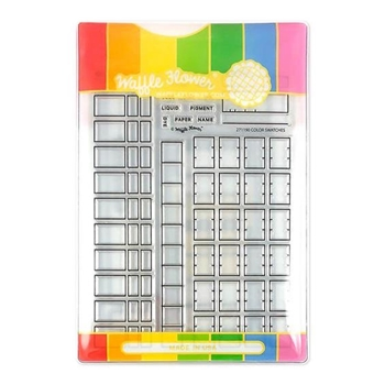 Waffle Flower COLOR SWATCHES COMBO Clear Stamps and Die Combo WFC190