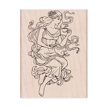 Hero Arts Rubber Stamp MOCHA MAIDEN K6298
