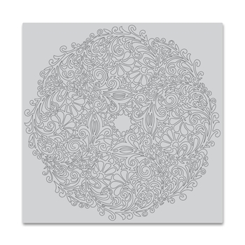 Hero Arts Cling Stamp FLORAL DOILY BOLD PRINTS CG749