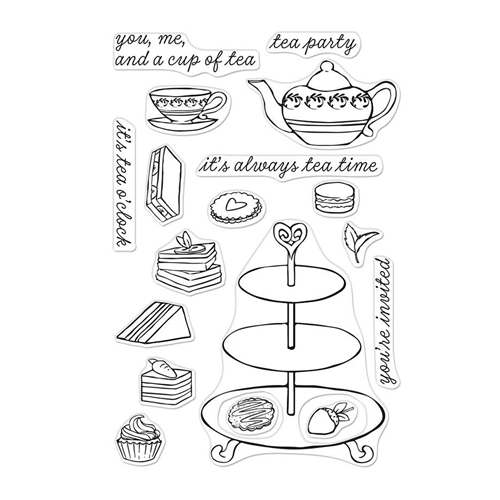 Hero Arts Clear Stamps TEA TIME CM299 Preview Image