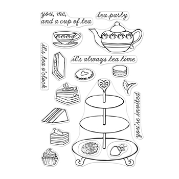 Hero Arts Clear Stamps TEA TIME CM299