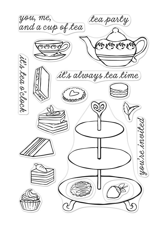 Hero Arts Clear Stamps TEA TIME CM299 zoom image