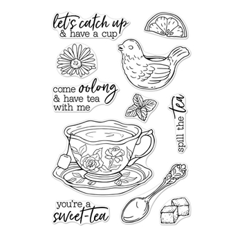 Hero Arts Clear Stamps SPILL THE TEA CM300