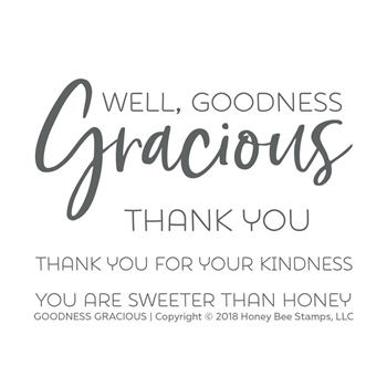 Honey Bee GOODNESS GRACIOUS Clear Stamp Set hbst-136