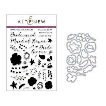Altenew BRIDE TO BE Clear Stamp and Die Set ALT2285