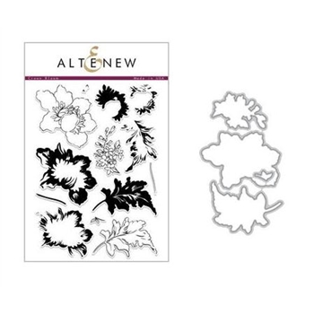 Altenew CROWN BLOOM Clear Stamp and Die Set ALT2286