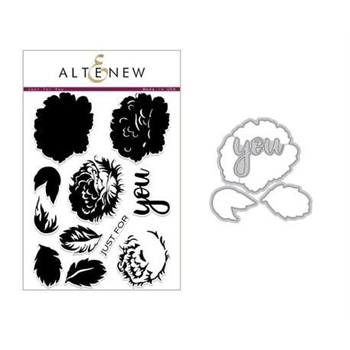 Altenew JUST FOR YOU Clear Stamp and Die Set ALT2228