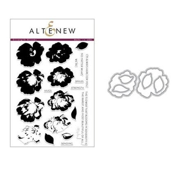 Altenew STRENGTH BLOOMS Clear Stamp and Die Set ALT2239