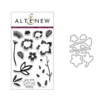 Altenew EMBROIDERED BLOOMS Clear Stamp and Die Set ALT2439
