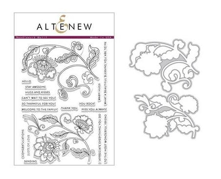 Altenew NEEDLEWORK MOTIF Clear Stamp and Die Set ALT2444 Preview Image