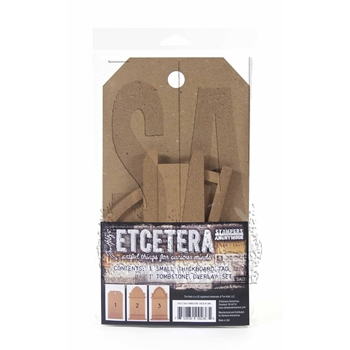 Tim Holtz Etcetera SMALL TOMBSTONE OVERLAY ETC006