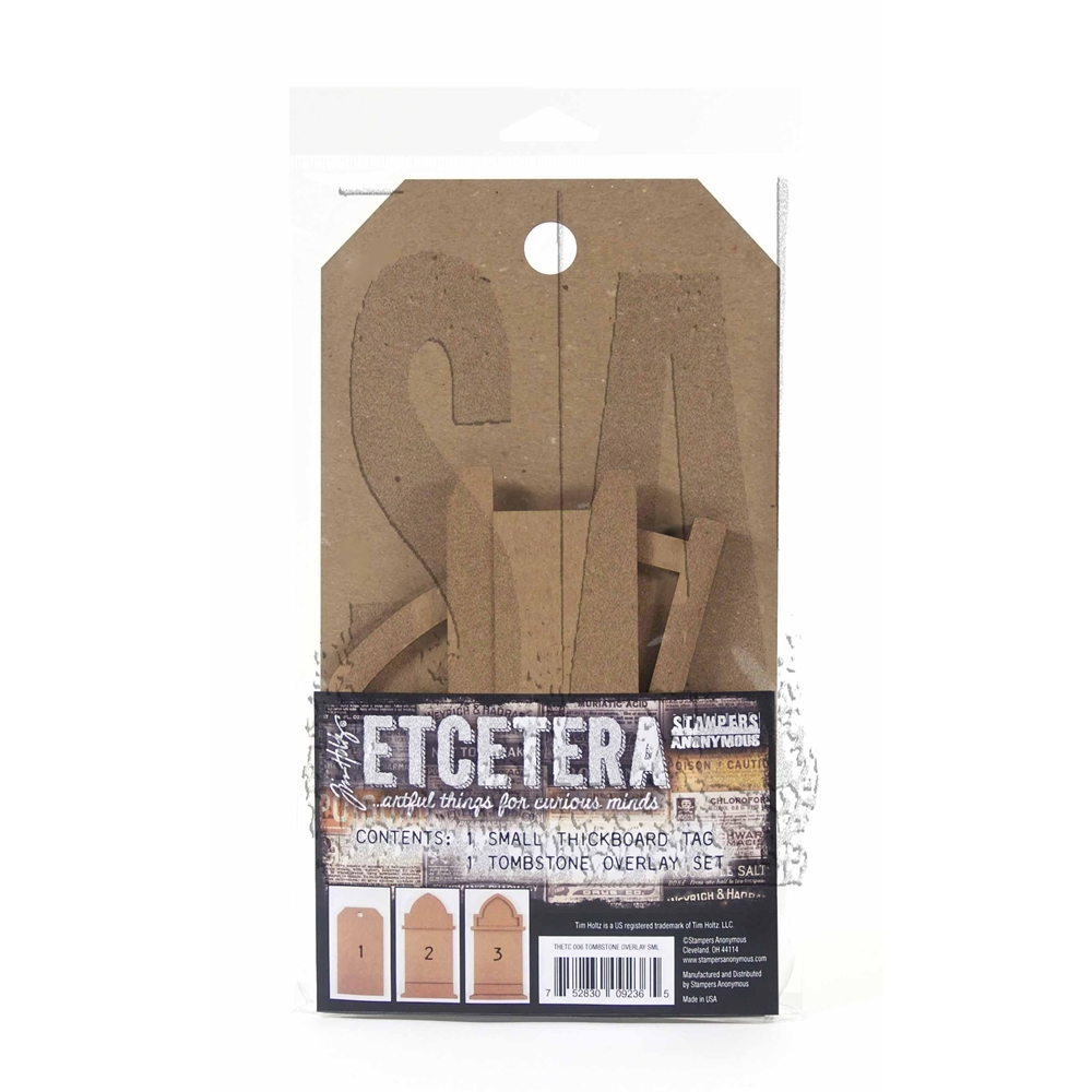 Tim Holtz Etcetera SMALL TOMBSTONE OVERLAY ETC006 zoom image