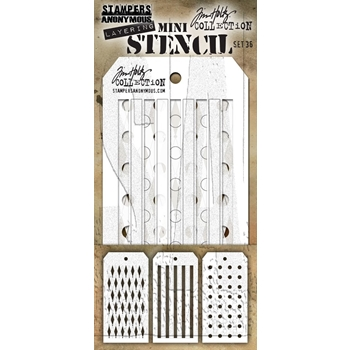 RESERVE Tim Holtz Shifters MINI STENCIL SET 36 MST036