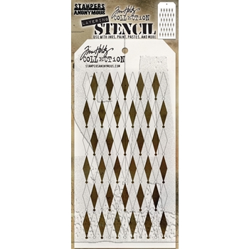RESERVE Tim Holtz Layering Stencil SHIFTER DIAMONDS THS110